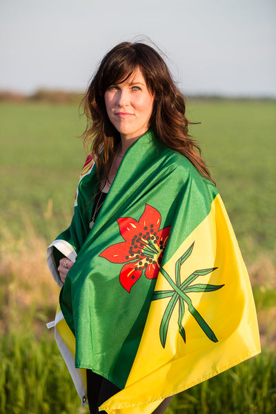 Amanda with Saskatchewan flag