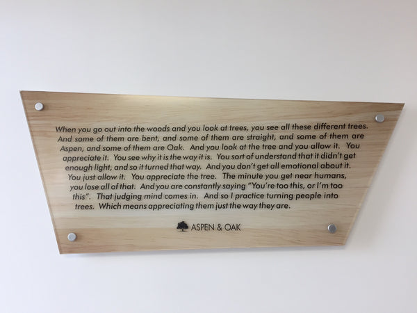 Aspen & Oak - Why Plaque