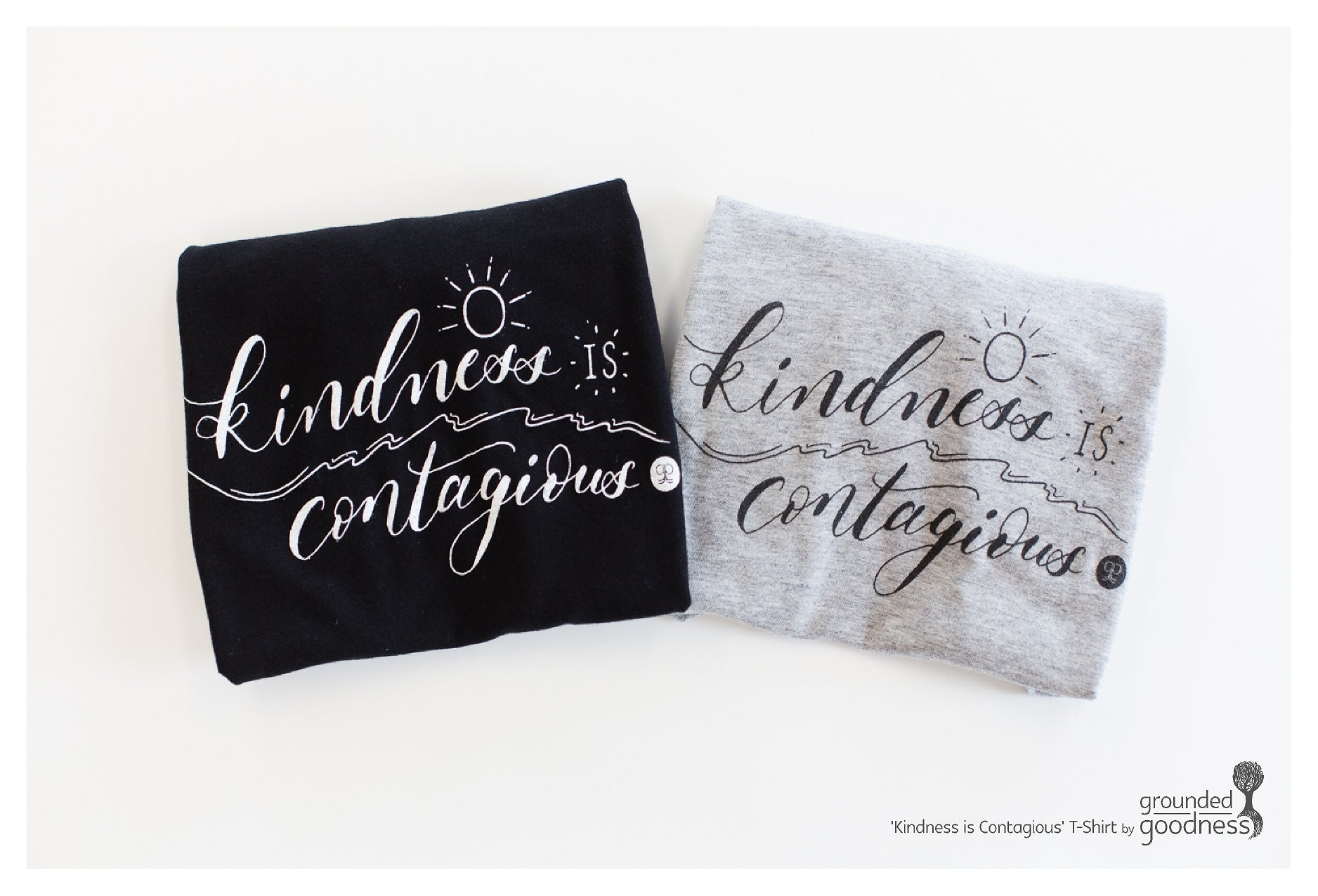 Ladies V-Neck Shirt - 'Kindness is Contagious'