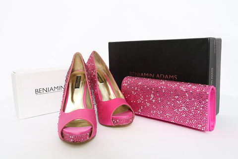 Studded Shoe and Purse Wedding Set by Benjamin Adams (Size: EU39, UK8.5) - Bosko  - 1