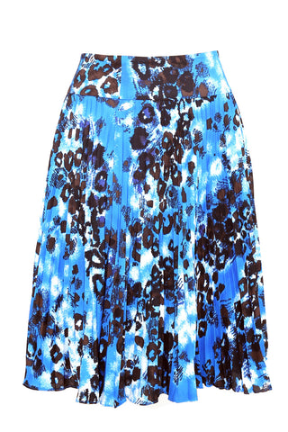 Mosaic Print Full Pleat Flare Skirt by Ann Taylor (Size: UK12, EU40) - Bosko  - 1