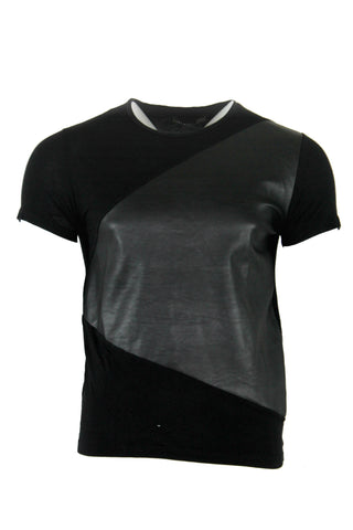 Short Sleeve Leather Patch T-Shirt by Zara (Size: M) - Bosko  - 1
