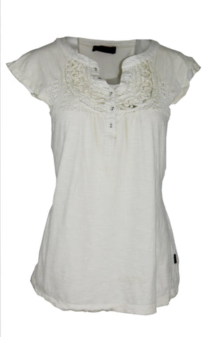 Cap Sleeve Embroided Top by 190DegreeF (Size: M) - Bosko  - 1