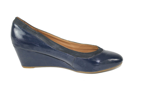 Glossy Wedge Heel - Blue by Fiore (Size: UK8, EU42) - Bosko  - 1