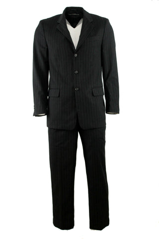 Long Sleeve Faint Striped Men's Suit by Gianfranco Ferre (Size: 40) - Bosko  - 1