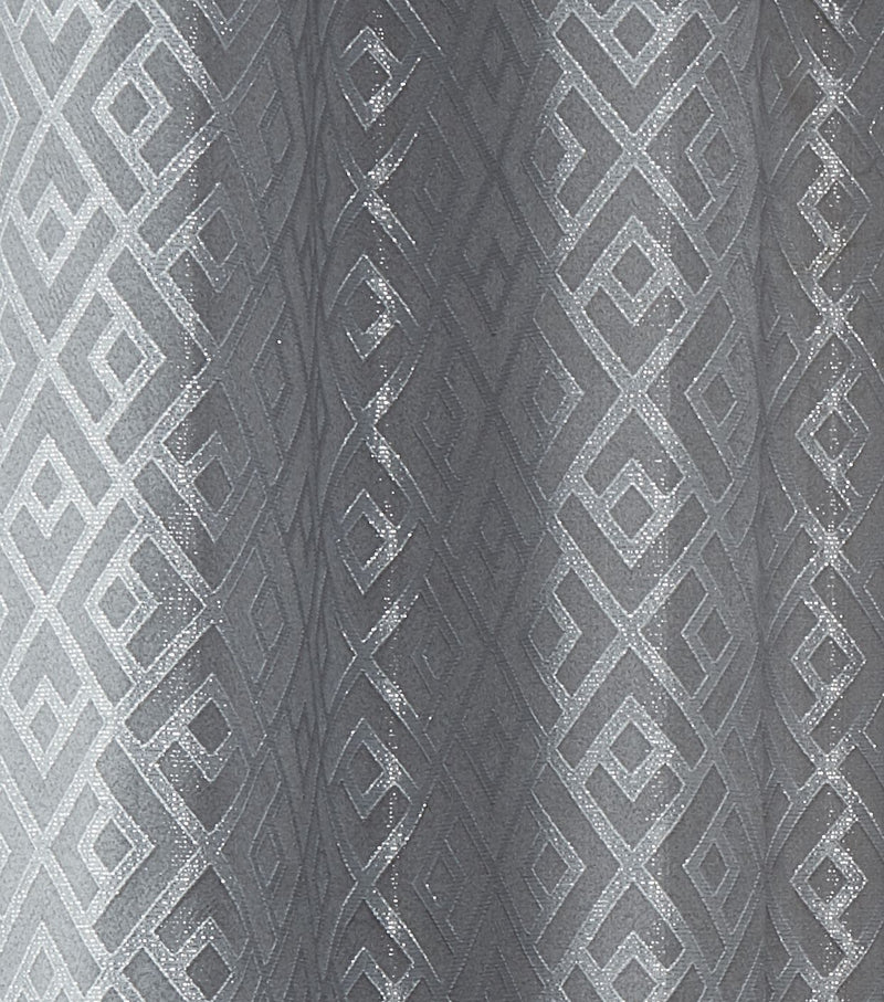 Athens Silver Eyelet Curtains
