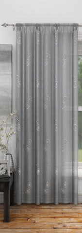 Silver Analise Embroidered Voile Panel