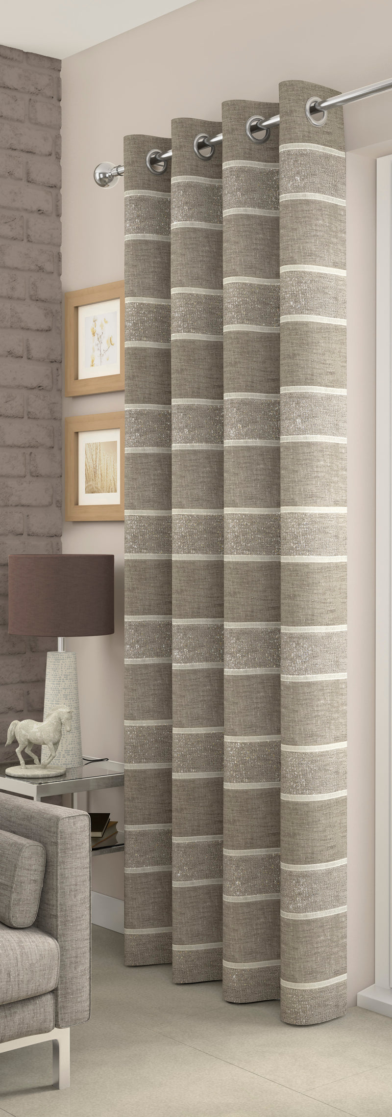 Beige Brooklyn Eyelet Voile Panel