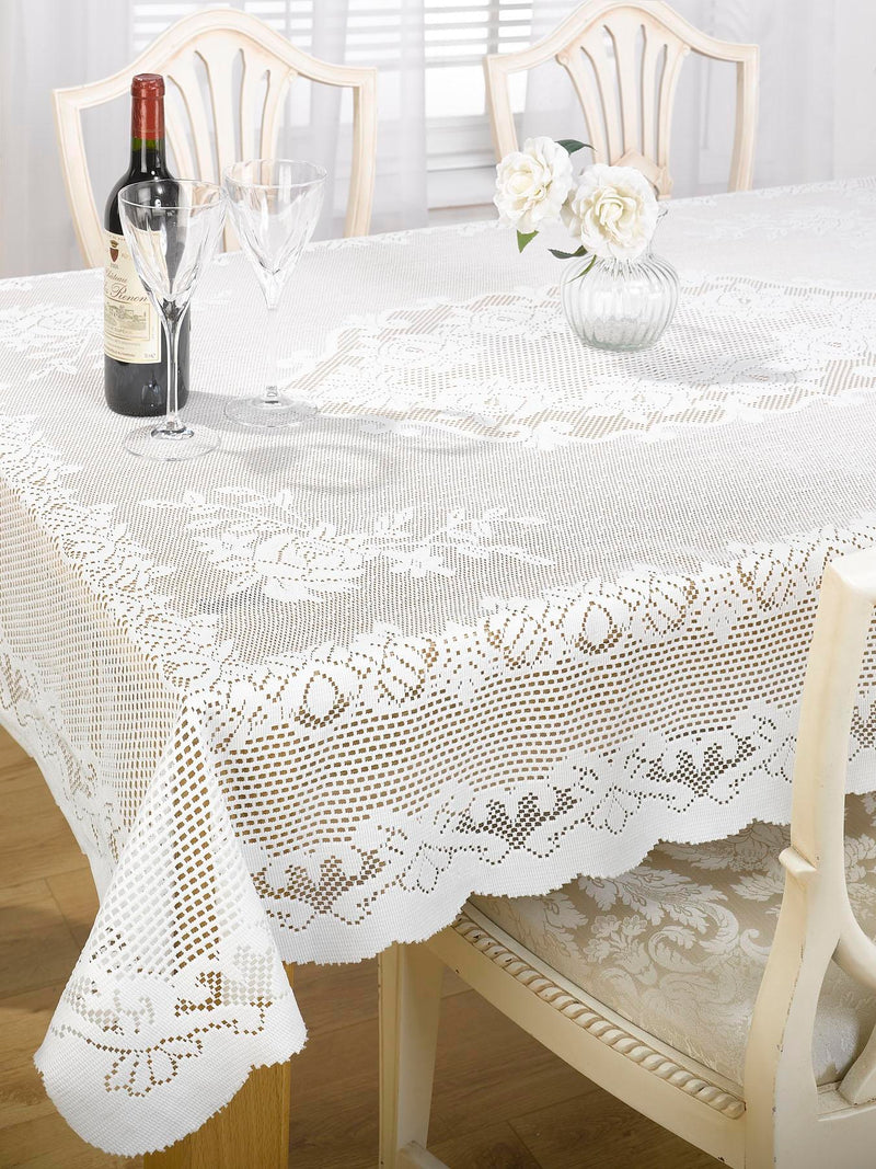 Lace Effect Cream Tablecloth
