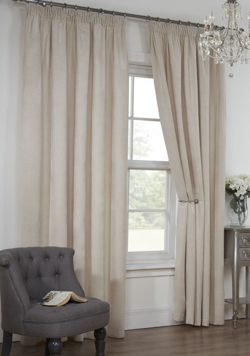 Natural Pencil Pleat Curtains Colorado
