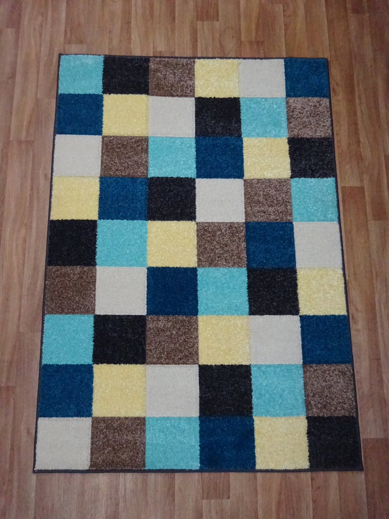 Portland Blue Yellow & Beige Rug