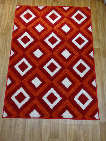 Viva Red & Terracotta Rug 120 x 170 cm 4' x 5'7""