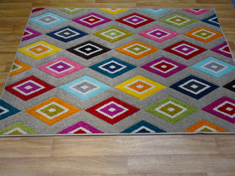 Piccadilly 5996 E Multi Rug  size 120 x 170 cm  4' x 5'7""
