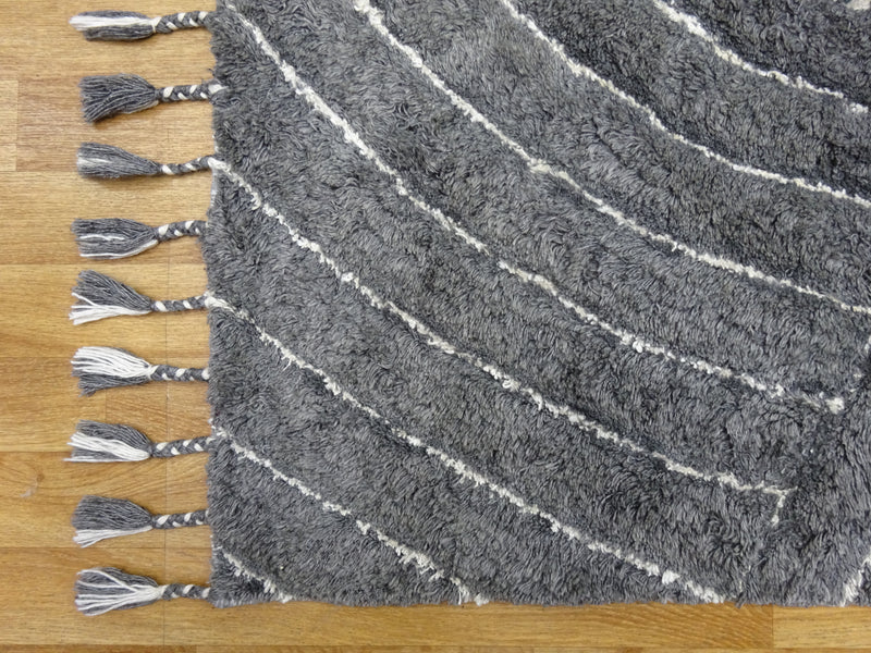 Eclectic Auckland Grey Wool & Viscose Rug 120 x 170 cm 4' x 5'7""