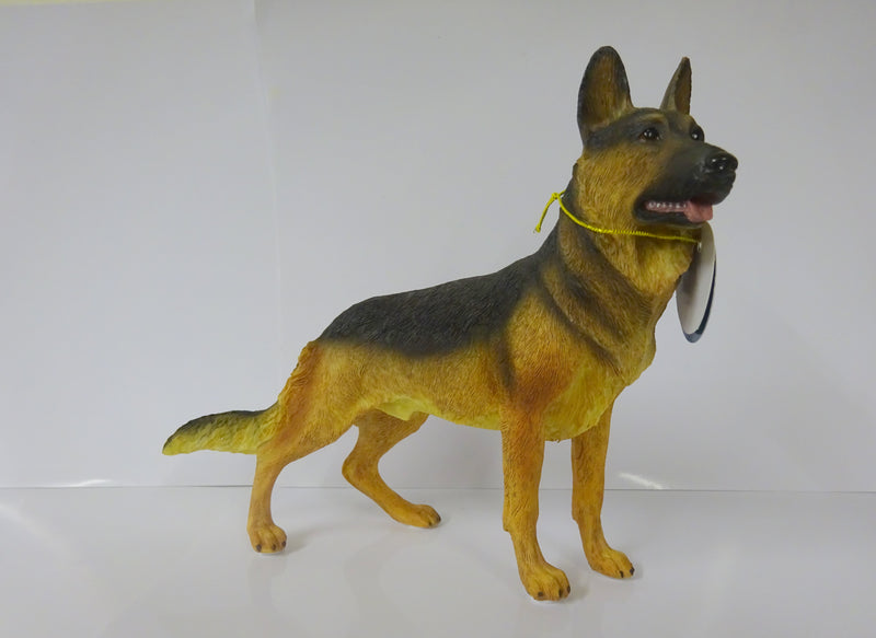 German Shepherd Alsatian Figurine Ornament