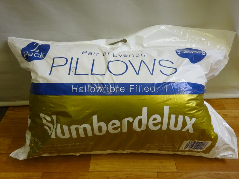 2 Pillows Hollowfibre Filled