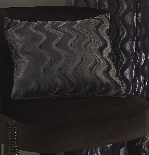 Katie – Embossed Velvet Cushion Cover in Silver