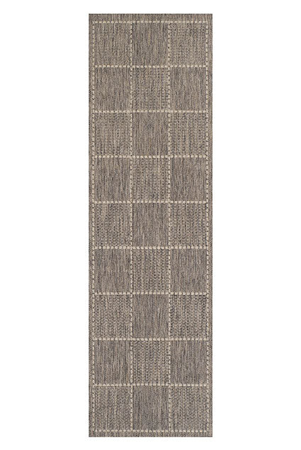 Grey Flatweave Anti-slip Rug