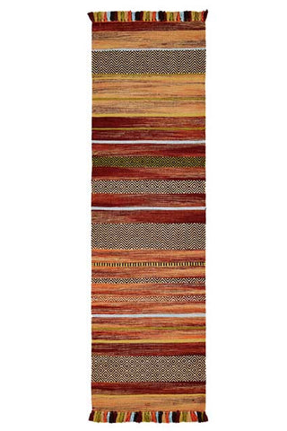 Stripes Rust Kelim Runner