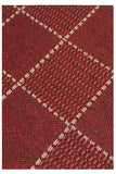 Red Flatweave Anti-slip Rug