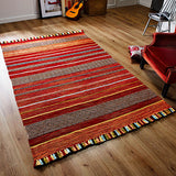 Kelim Stripe Red Rug