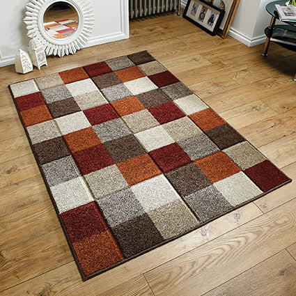 Portland Brown & Terracotta & Orange Rug