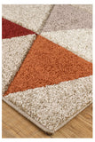 Portland Beige & Orange & Terracotta Rug