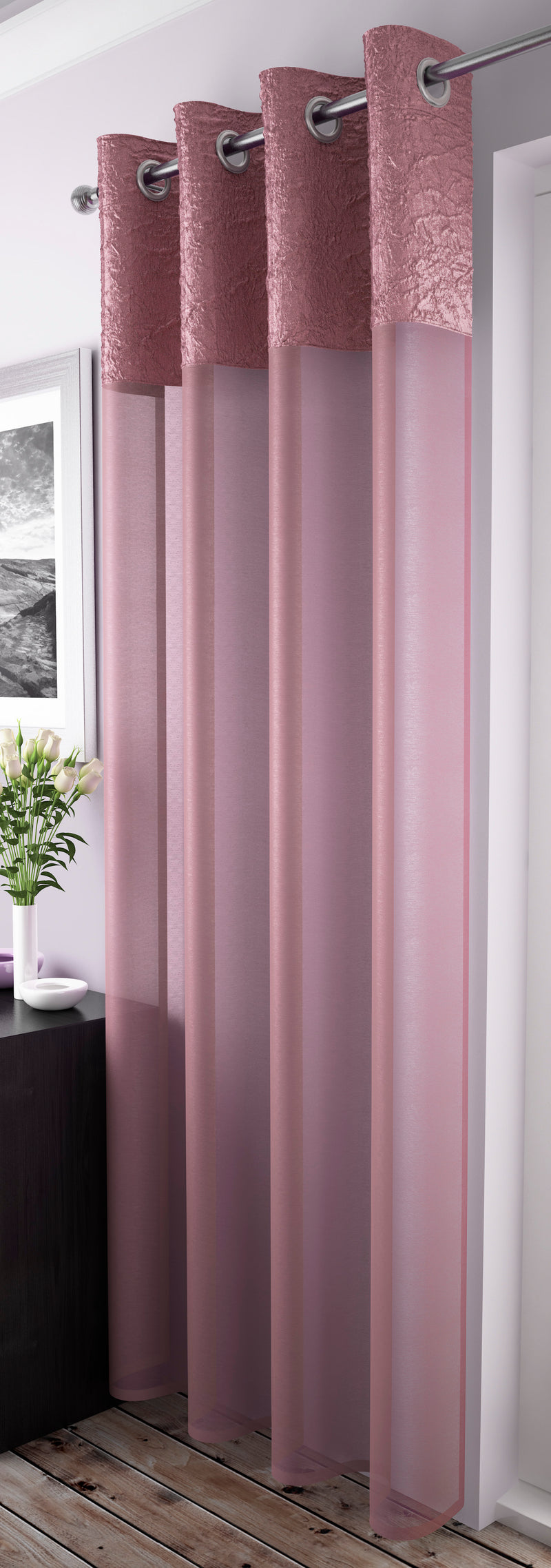 Maderia Blush/Light purple Voile Panel