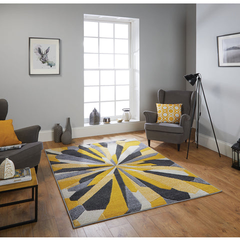Portland Yellow & Grey Rug