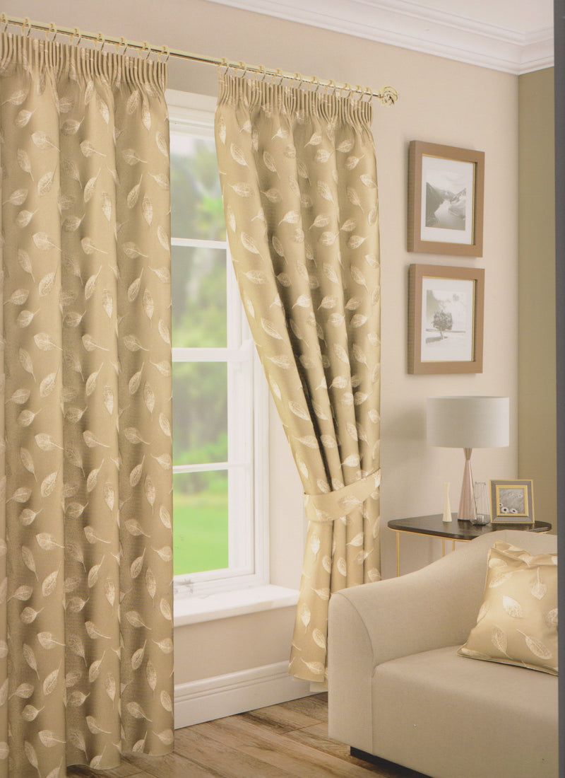 Rowan Gold Lined Curtains