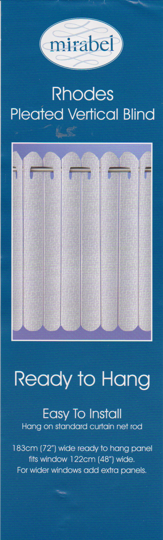 Vertical Lace Blinds White/Net curtain