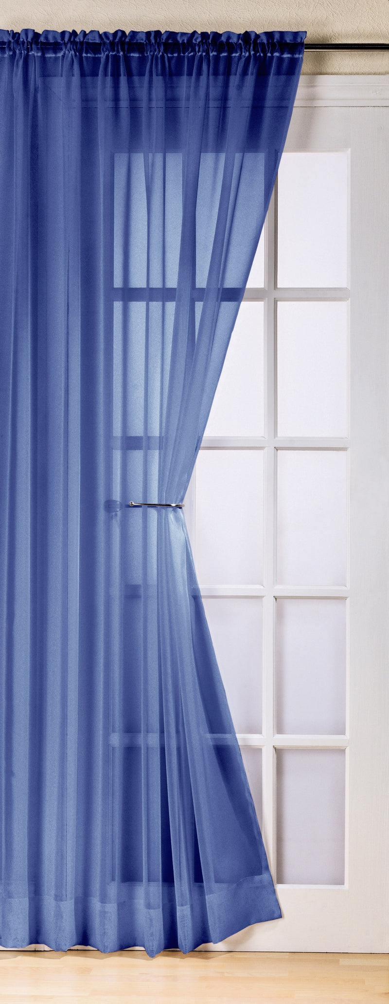 Trent Navy Slot Top Voile Panels