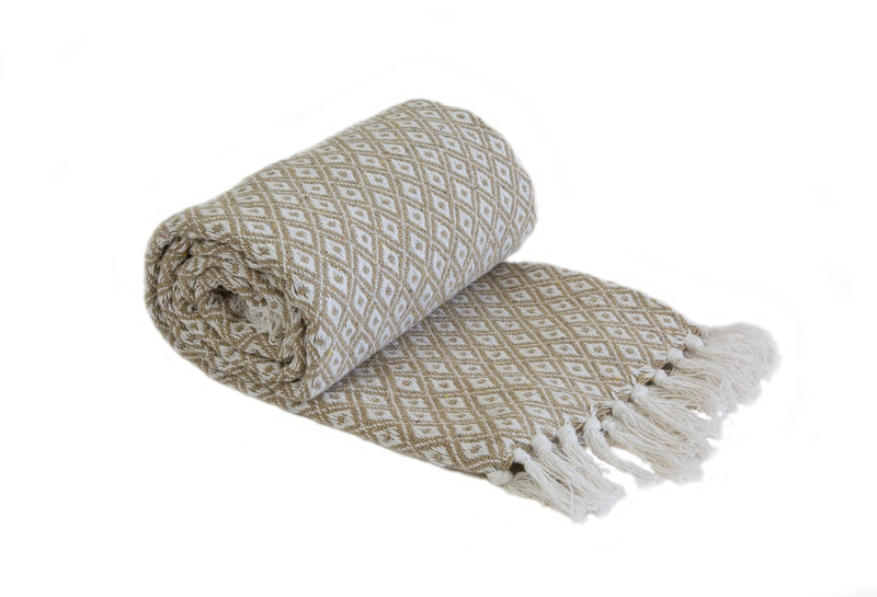 Casablanca – Recycled Cotton Throw in Taupe