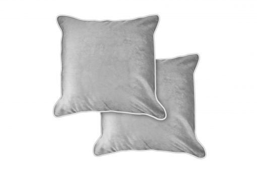 Chelsea – Soft Touch Luxury Cushion Cover Silver