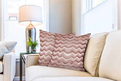 Sinead – Satin Chenille Cushion Cover in Dusky Pink