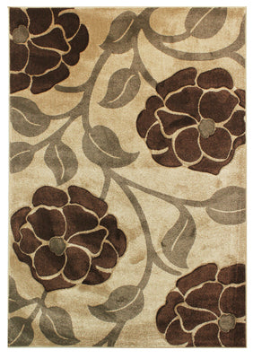 Hand Carved Vine Beige Brown