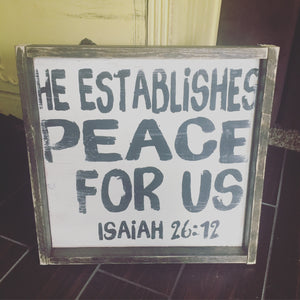 He Establishes Peace