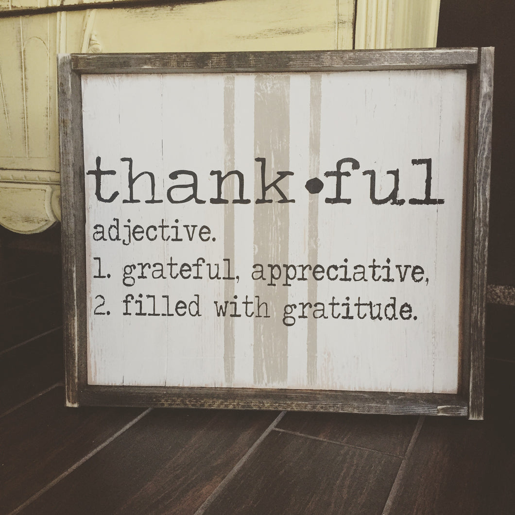 Thankful Definition