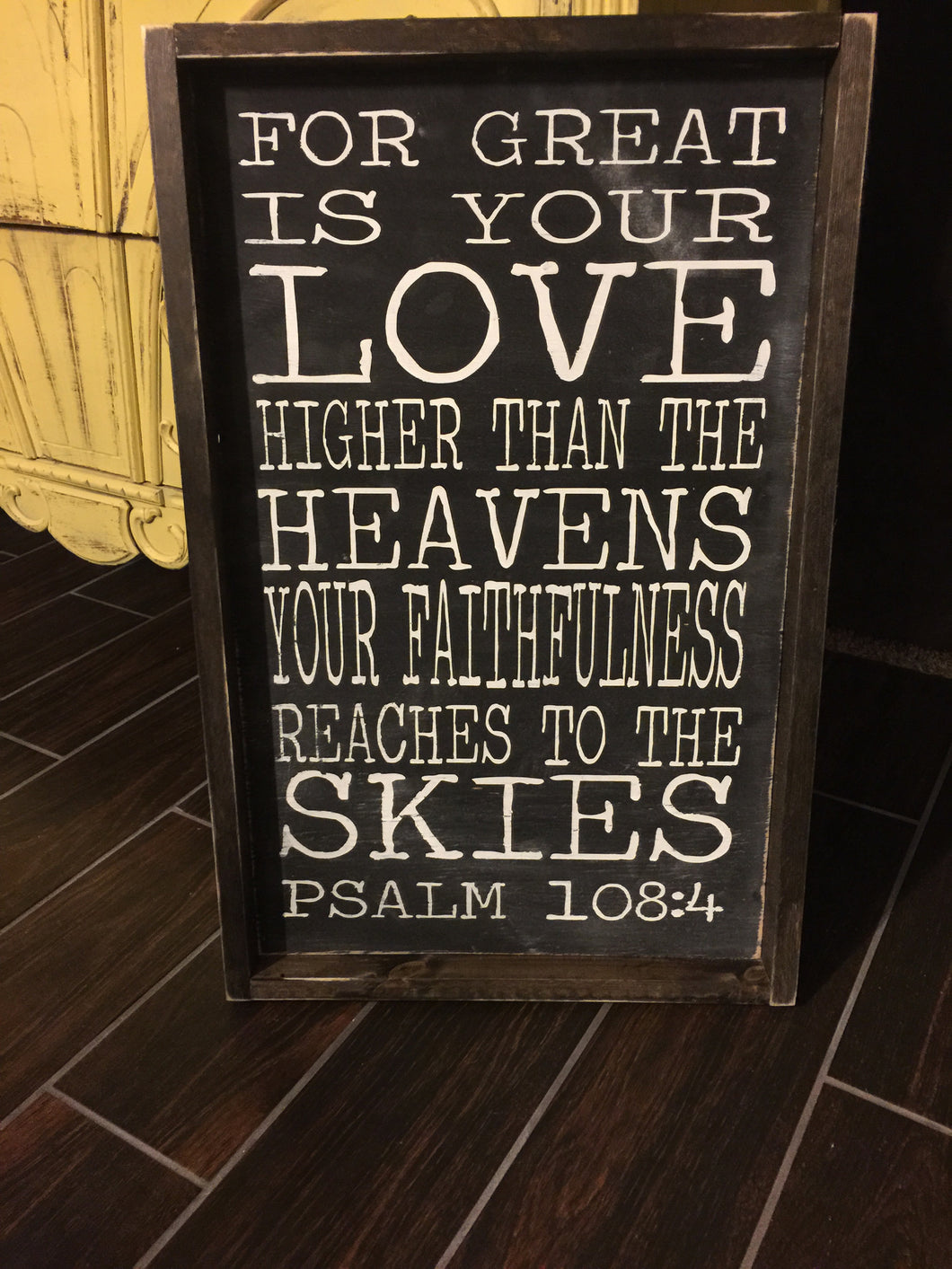 For Great Is Your Love Higher Than The Heavens