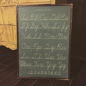 Penmanship Paper Sign