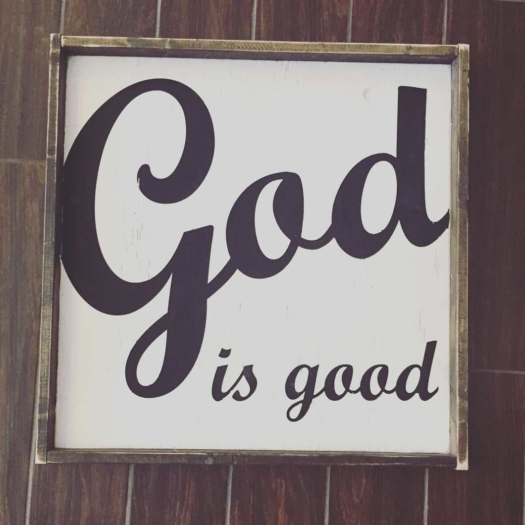 God Is Good - Cursive