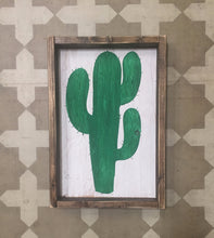 Cactus Wood Sign