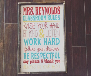 Teacher Classroom Rules Sign