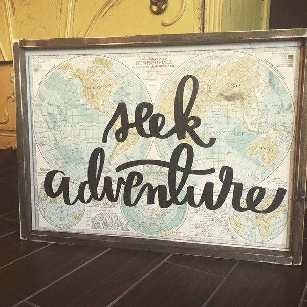 Seek Adventure Paper Map