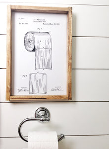 Toilet Paper Patent- Wood Sign