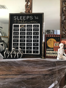 Sleeps Til ' - Wood Sign