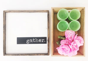 Gather- Wood Sign (block)