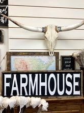 Farmhouse- Wood Sign