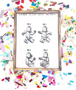 LEGO Patent - Print On Wood or Print Only