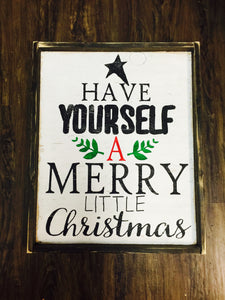 Have Yourself A Merry Little Christmas-Large Writing